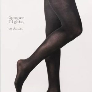 Women's 2pk 50D Opaque Tights - A New Day™ Black